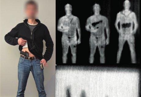 detection d'armes et objets cachés sous portique de sécurité